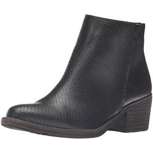 Snake Embossed Faux Leather Casual Raylan Booties